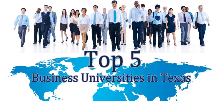 list of top five texas universities for business management degreee