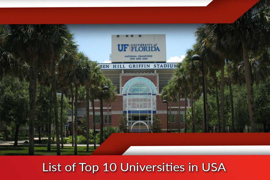 List of Top 10 Universities in USA