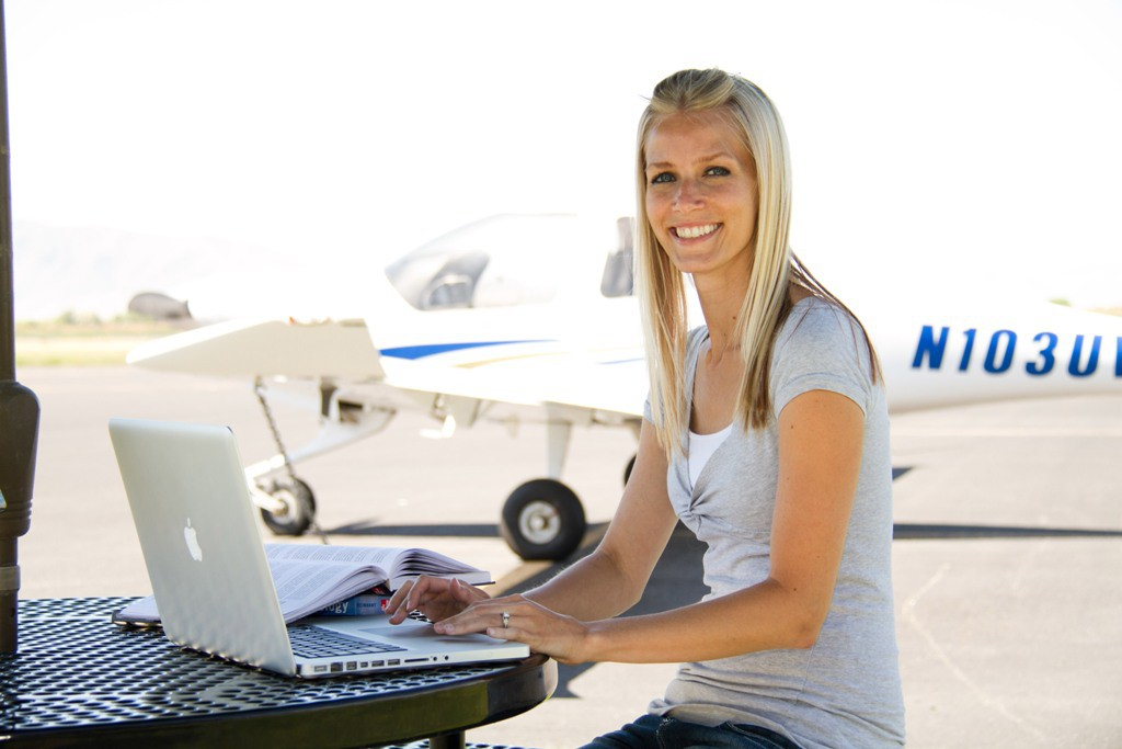 Most beautiful female aviation students in usa